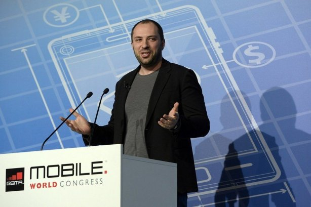 El cofundador y CEO de Whatsapp, Jan Koum, durante su intervención en el Mobile World Congress LLUIS GENE / AFP