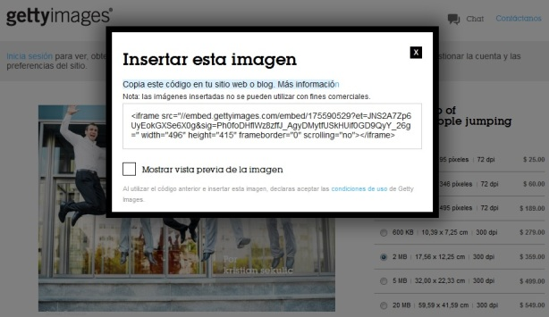 Getty Images HTML