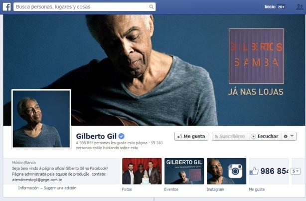 Gilberto Gil en FB